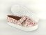 Tênis Slip On Iate Florido Rosa em Têxtil Estampado - Imagem 3