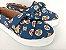 Tênis Slip On Pet Cachorrinho Azul em Têxtil Estampado - Imagem 1
