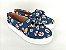 Tênis Slip On Pet Cachorrinho Azul em Têxtil Estampado - Imagem 2
