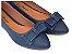 Sapatilha Azul Com Laço Bico Fino - Imagem 1
