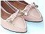Sapatilha Slipper Rosa Bebê Com Lacinho Bico Fino - Imagem 2