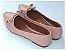 Sapatilha Slipper Rosa Bebê Com Lacinho Bico Fino - Imagem 3