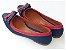 Sapatilha Azul Com Vermelho Laço Duplo Bico Fino - Imagem 3