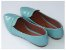 Sapatilha Slipper Azul Bebê Verniz Bico Fino - Imagem 3