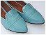 Sapatilha Slipper Azul Bebê Verniz Bico Fino - Imagem 1