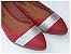 Sapatilha Vermelha Com Brilho Prateado Dourado - Imagem 2