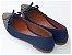 Sapatilha Azul Com Laço Bico Fino Com Brilho - Imagem 3