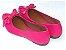Sapatilha Rosa Pink Com Laço Bico Fino - Imagem 3