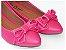 Sapatilha Rosa Pink Com Laço Bico Fino - Imagem 1
