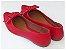 Sapatilha Vermelha Laço Quadrado Bico Fino - Imagem 3