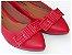 Sapatilha Vermelha Laço Quadrado Bico Fino - Imagem 1