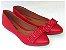 Sapatilha Vermelha Laço Quadrado Bico Fino - Imagem 2