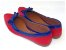 Sapatilha Vermelha Com Azul Laço Bico Fino - Imagem 3