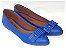 Sapatilha Azul Laço Quadrado Bico Fino - Imagem 2
