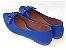 Sapatilha Azul Laço Quadrado Bico Fino - Imagem 3