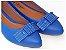 Sapatilha Azul Laço Quadrado Bico Fino - Imagem 1