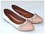Sapatilha Branca Com Rosê Cordão Bico Fino - Imagem 2