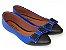 Sapatilha Azul Com Preto Laço Bico Fino - Imagem 2