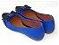 Sapatilha Azul Com Preto Laço Bico Fino - Imagem 3