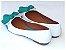 Sapatilha Branca Com Verde Água Laço - Imagem 3