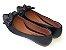 Sapatilha Preta Com Nozinho Laço Bico Fino - Imagem 3