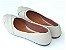 Sapatilha Off White Costura Bico Fino - Imagem 3