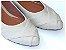Sapatilha Off White Costura Bico Fino - Imagem 1