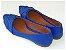 Sapatilha Azul Costura Bico Fino - Imagem 2