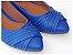 Sapatilha Azul Costura Bico Fino - Imagem 3