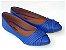 Sapatilha Azul Costura Bico Fino - Imagem 1