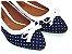 Sapatilha Poa Azul Com Laço Bico Fino - Imagem 1