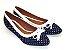 Sapatilha Poa Azul Com Laço Bico Fino - Imagem 3
