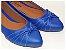 Sapatilha Azul Com Laço Fechado Bico Fino - Imagem 1