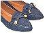 Sapatilha Slipper Jeans Com Lacinho Bico Fino - Imagem 1