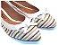 Sapatilha Detalhe De Listras Coloridas Com Laço - Imagem 1