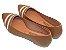 Sapatilha Caramelo Com Faixas Brilhantes Bico Fino - Imagem 3