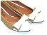Sapatilha Bege Com Branco Laço Médio Bico Fino - Imagem 2
