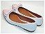 Sapatilha Branco Com Laço Rosa Bebê - Imagem 3