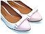 Sapatilha Branco Com Laço Rosa Bebê - Imagem 1