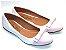 Sapatilha Branco Com Laço Rosa Bebê - Imagem 2