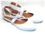 Sandalia Branca Em Verniz Bico Fino E Fechado - Imagem 2