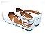 Sandalia Branca Em Verniz Bico Fino E Fechado - Imagem 3