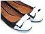 Sapatilha Preta Com Laço E Bico Branco Redondo - Imagem 1