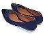 Sapatilha Azul Marinho Com Bico Fino Em Verniz - Imagem 3