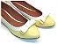 Sapatilha Amarela Bebê Com Branco Laço Pequeno - Imagem 1