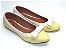Sapatilha Amarela Bebê Com Branco Laço Pequeno - Imagem 2