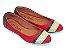 Sapatilha Vermelha Com Faixa Dourada E Marrom - Imagem 2