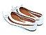 Sapatilha Branca E Transparente Com Laço Pequeno - Imagem 3