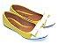 Sapatilha Amarela Com Laço E Bico Fino Brancos - Imagem 2