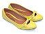 Sapatilha Amarela Vazada Com Lacinho Bico Fino - Imagem 2